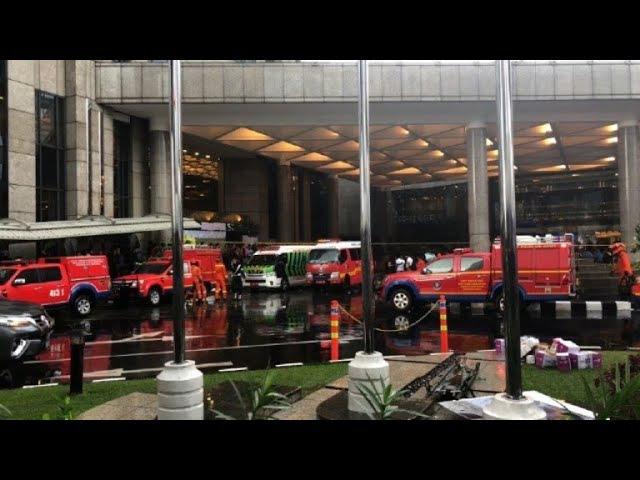 Floor at Indonesia's stock exchange collapses