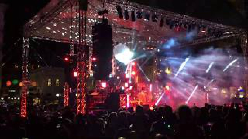 PATRA central square live The begin of Carnaval 2018 Greece at night
