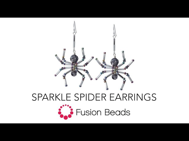 Learn how to make the Spider Sparkle Earrings by Fusion Beads