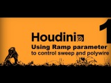 Houdini Tutorial How to control polywire, and sweep node along a curve by ramp parameter. part1