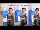 Bufanda con punta en forma de L tejida a crochet Tejiendo Perú