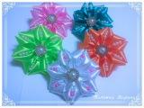 МК Ярких круглых бантиков с жемчужными бусинамиRound bows with pearlsArcos redondos com p