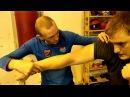 Работа с гирей для боксера