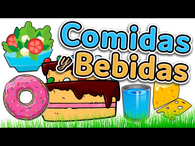 Food and drinks in Spanish - Learn Spanish for beginners and kids (comidas y bebidas)