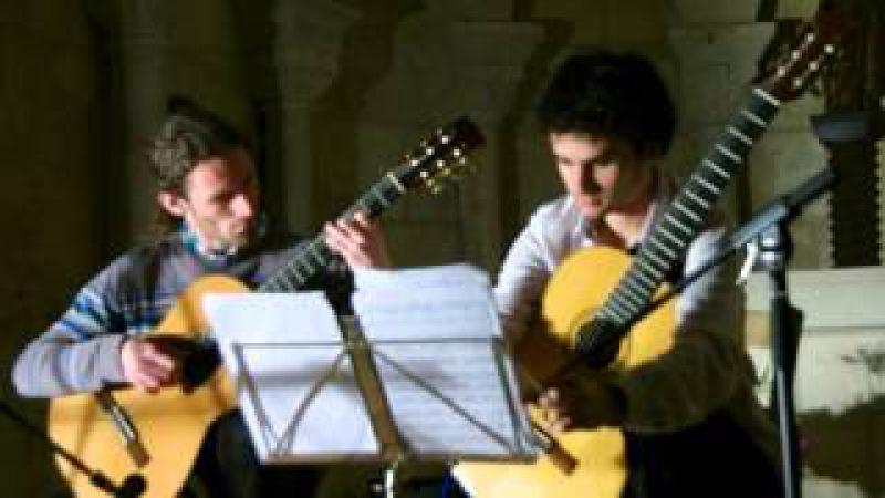 Ludovico Einaudi - Divenire (guitar duo by Y.Menage S.Delcamp)