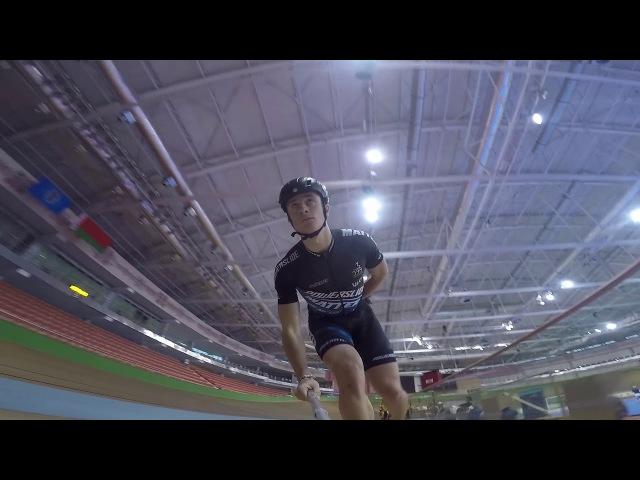 Inline speed skating in Minsk arena velodrome (pascal briand vlog 117)