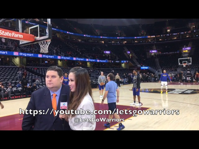 Steph Curry shooting routine, pregame in Cleveland at The Q (Quicken Loans Arena)
