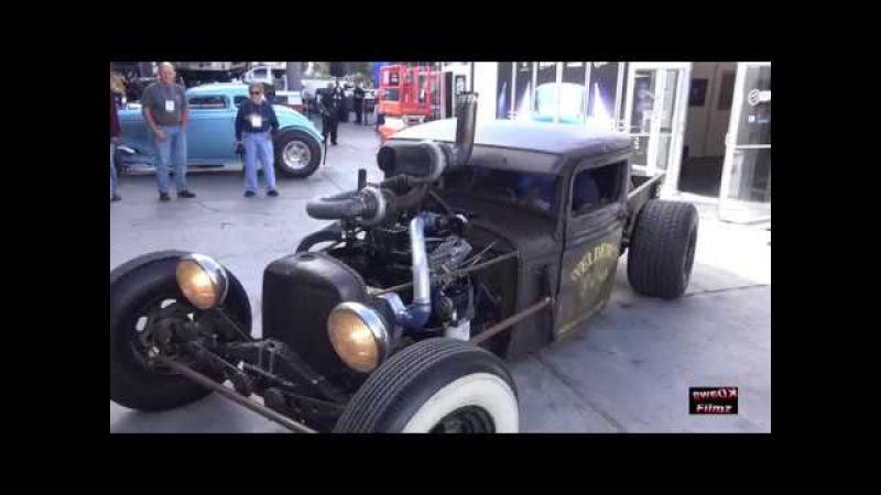 "Welderup '32 Ford ""Little Joe"" Rat Truck with a Twin Turbo 4BT Cummins Diesel at SEMA 2017."