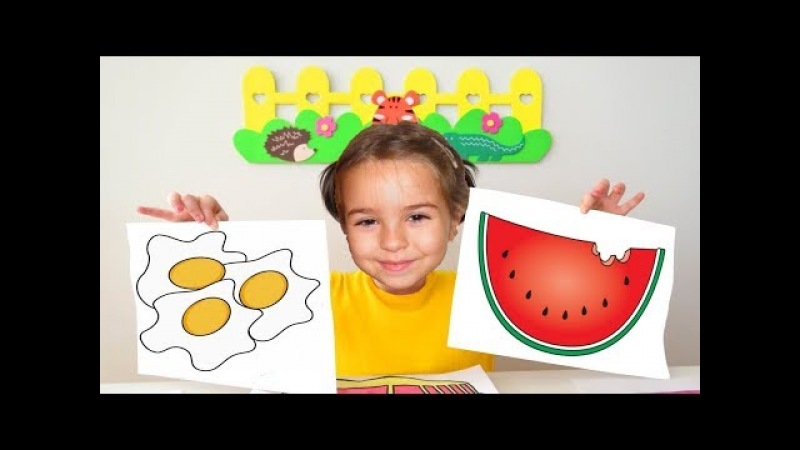 Education activities video for kids, children and toddlers with Finger Paints and Coloring