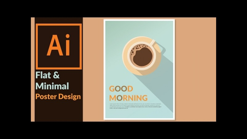 Designing a Minimal Flat Design Poster in Adobe illustrator