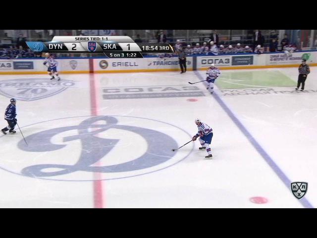 Моменты из матчей КХЛ сезона 16/17 • Гол. 2:2. Вадим Шипачёв (СКА) реализовал двойное большинство 12.03