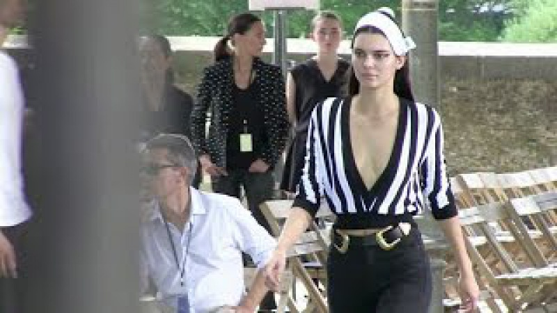 Naomi Campbell Irina Shayk Joan Smalls and Kendall Jenner at the Givenchy rehearsal in Paris