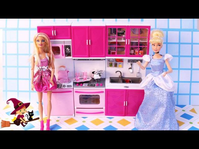 Cocinita de Juguetes Barbie Invita a su Amiga Cenicienta