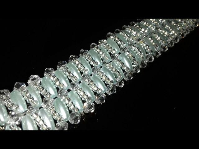 Браслет из бусин 4x8. Мастер-класс. Tutorial: beaded bracelet. DIY