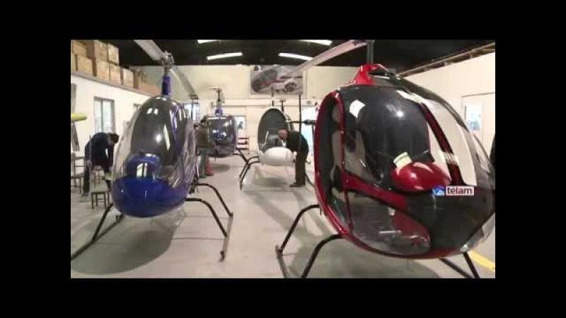 Una empresa familiar bonaerense presentó sus nuevos modelos de helicópteros