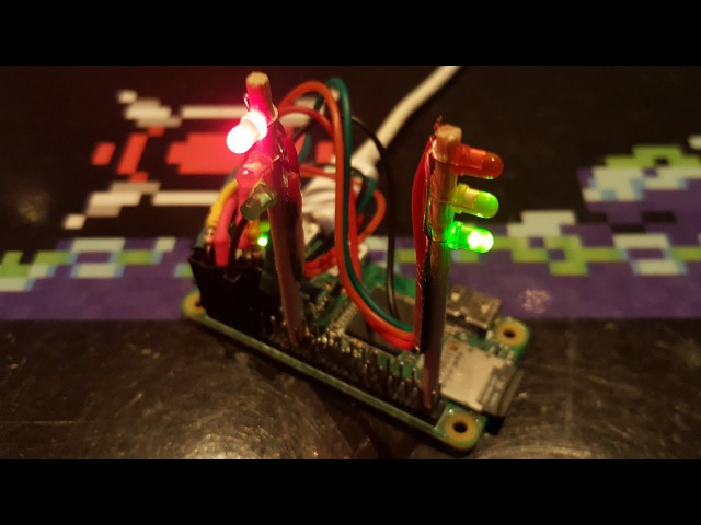 Making traffic lights with 3mm LEDs using a Raspberry Pi (Zero W)