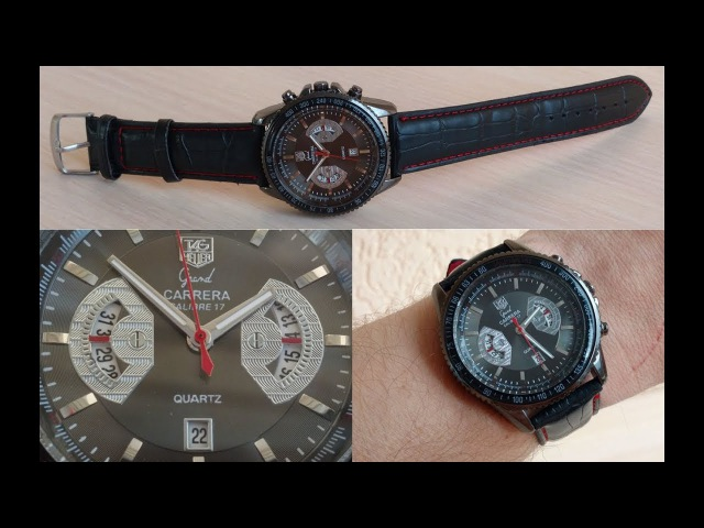Часы Tag Heuer Grand Carrera Black Кварц 42мм