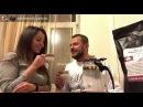 Елена Беркова и Андрей стоянов пьют чай