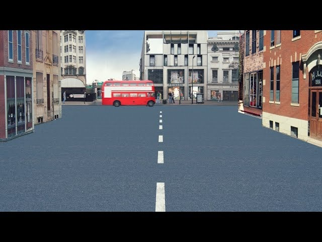 Street. 3d layer after effects