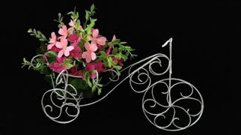 ABC TV   How To Make Flower Bike From Zinc Wire - Craft Tutorial 1