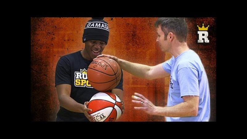 KSI Learns Freestyle Basketball: Basketball Balance   Rule'm Sports