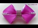 Бантики из лент своими руками How to make kanzashi hairclip DIY ribbon hair bow Ola ameS DIY