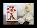 Картина Дерево кохання канзаши Дерево любви своими руками The tree of love kanzashi