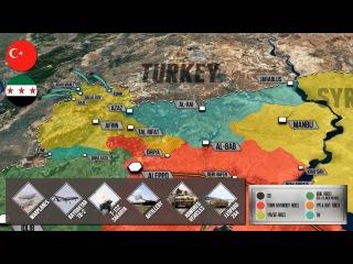 22 января 2018 года. Военная обстановка в Сирии. Турция начала операцию против сири ...
