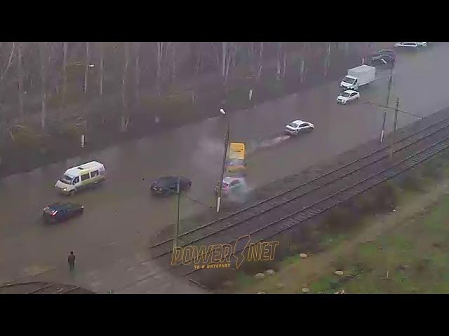 ДТП (авария г. Волжский) пр. Ленина ул. Мечникова 16-12-2017 10-06