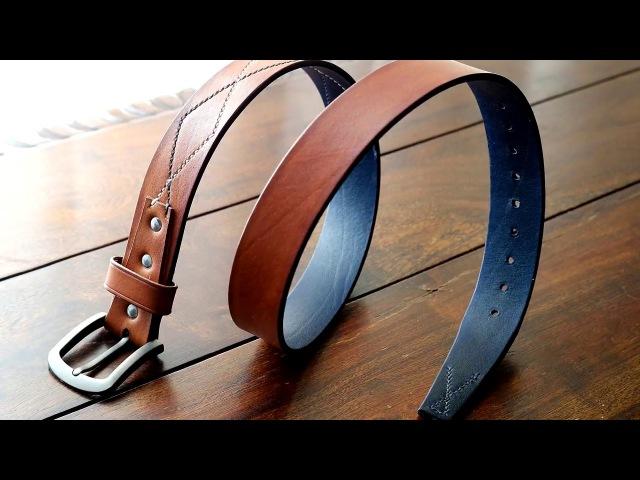 The Making of a Handmade Leather Belt - Πως φτιάχνεται μία χειροποίητη δερμάτιν