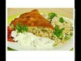 Заливной пирог с рисом и рыбой! Очень быстро и сытно!