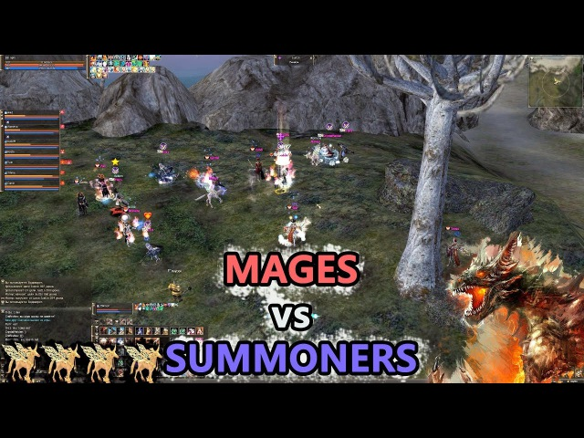 MAGES vs SUMMONERS - Antharas Update Lineage 2 Classic