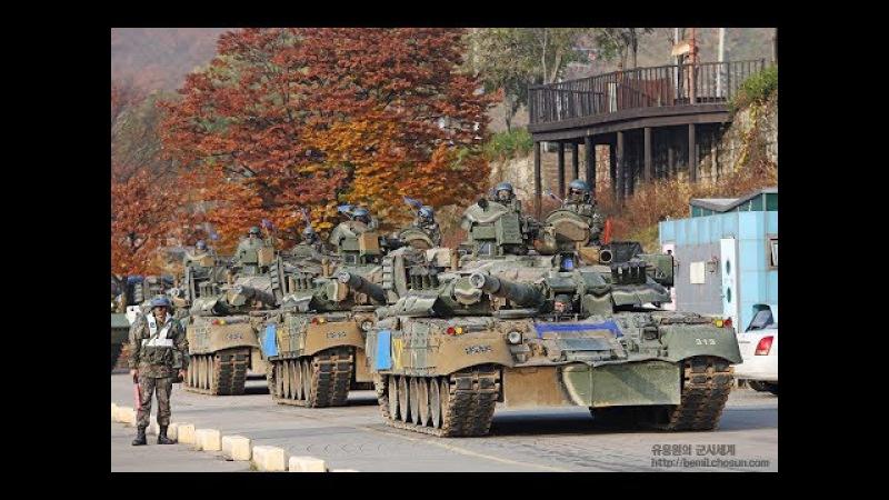 육군 3기갑여단 러시아제 T-80U 전차 도하훈련 현장 최초공개! ГруппаЮжнаяКорея