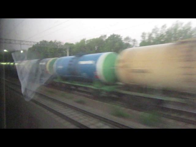 Мичуринск Вор.-Никольское ЮВЖД. Поезд 202М Москва-Адлер 18.08.2017