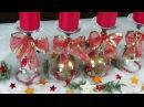 Dekoration für Weihnachten Adventskranz basteln mit Weingläsern Einfach
