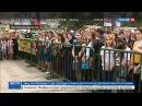 Новости на «Россия 24» • Песни военных лет исполнил многонациональный хор в Махачкале