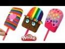 Плей До пластилин Лепим мороженое цвета радуги из пластилина Play Doh своими руками Видео для детей