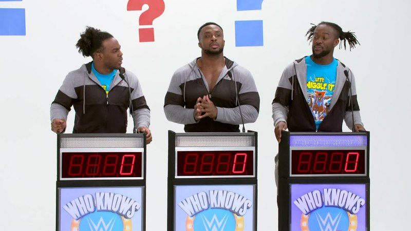 The New Day compete against each other on