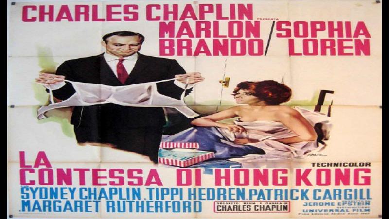 La contessa di Hong Kong -Charles Chaplin_1967_-Sofia Loren Marlon Brando Sydney Chaplin Tippi Hedren Charles Chaplin vecchio st