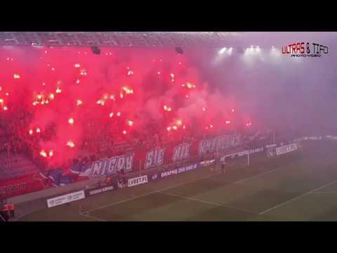 E Wisła Kraków Lech Poznań mały pożar 2018 05 13