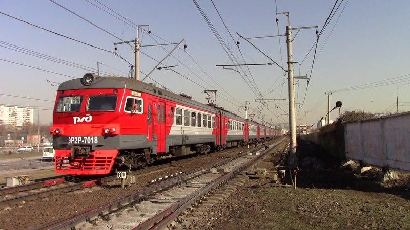Электропоезд ЭР2Р 7018 с приветливой бригадой