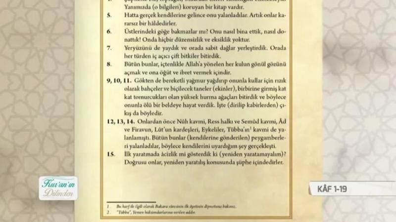 Kuranın Dilinden 168.Bölüm