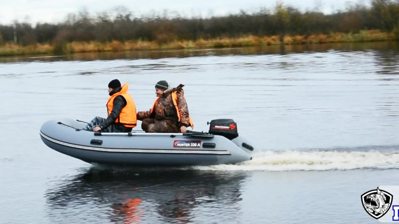 Надувная лодка ПВХ Хантер 330 А с мотором Гольфстрим 6 (9,8 л.с)