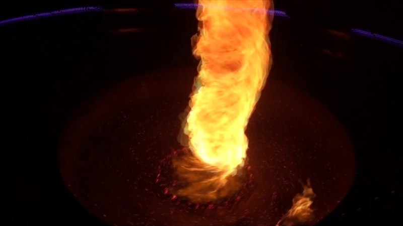 Cie Manda Lights - Installation contemplative : Zénith, Tornade de feu