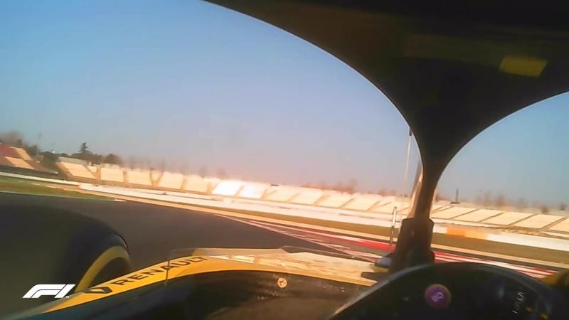 Visor Cam! Onboard with Hulkenberg in the 2018 Renault.