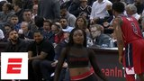 Drake gets fired up, jaws with John Wall during Game 5 of Raptors vs. Wizards ESPN