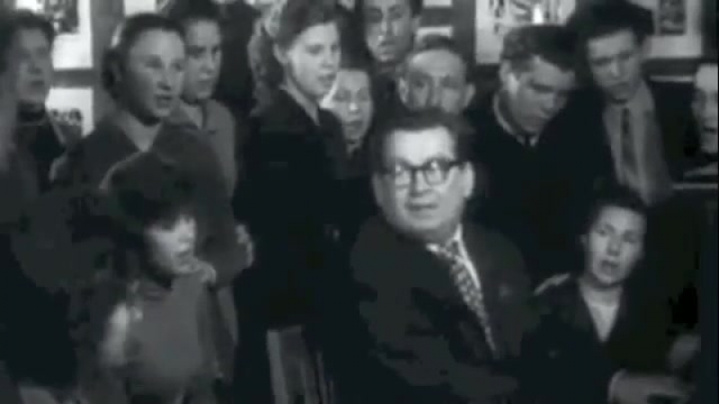В Соловьев-Седой(р.25.04.1927г.) исполняет свою песню Подмосковные вечера