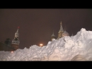 Вечерний снегопад на Красной площади