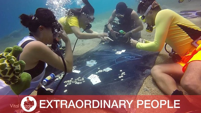 Divers Decide To Play Some Underwater Poker