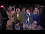 Zayn, Anwar Hadid, Rosie Huntington-Whiteley and Nicola Peltz sit front row at the TOM FORD Womens FW18 show